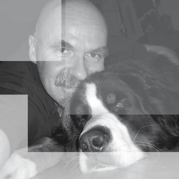 Boo and me in Black and white