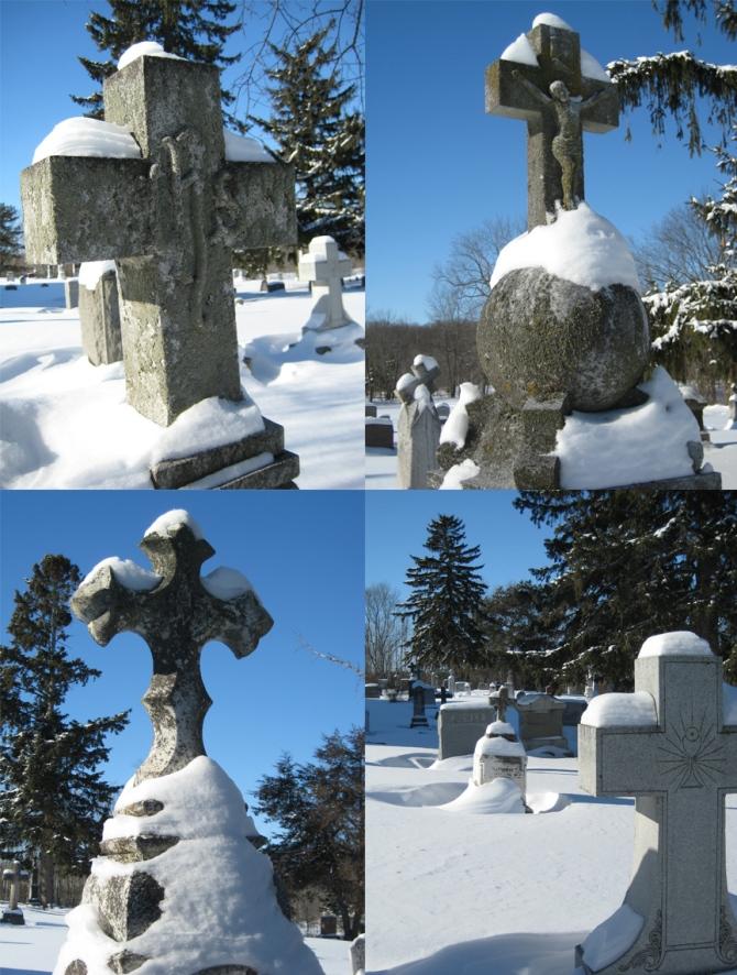 Winter Headstones