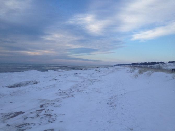 Winter Morning on Lake Michigan